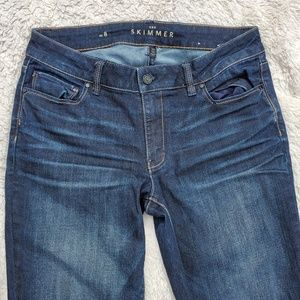 Whbm blue jeans the skimmer size 8